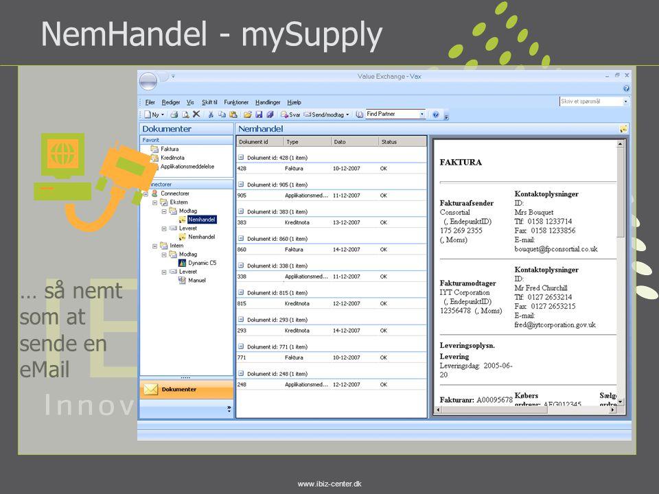 NemHandel - mySupply … så nemt som at sende en eMail
