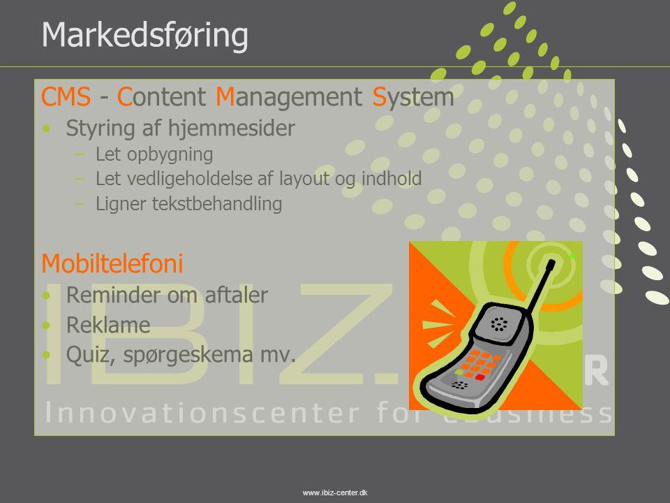 Markedsføring CMS - Content Management System Mobiltelefoni
