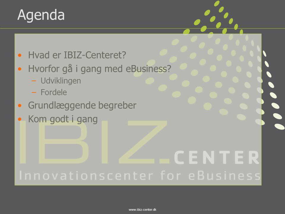 Agenda Hvad er IBIZ-Centeret Hvorfor gå i gang med eBusiness