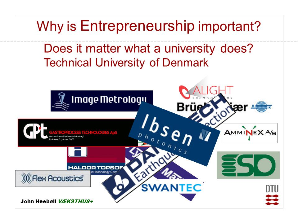 Why is Entrepreneurship important