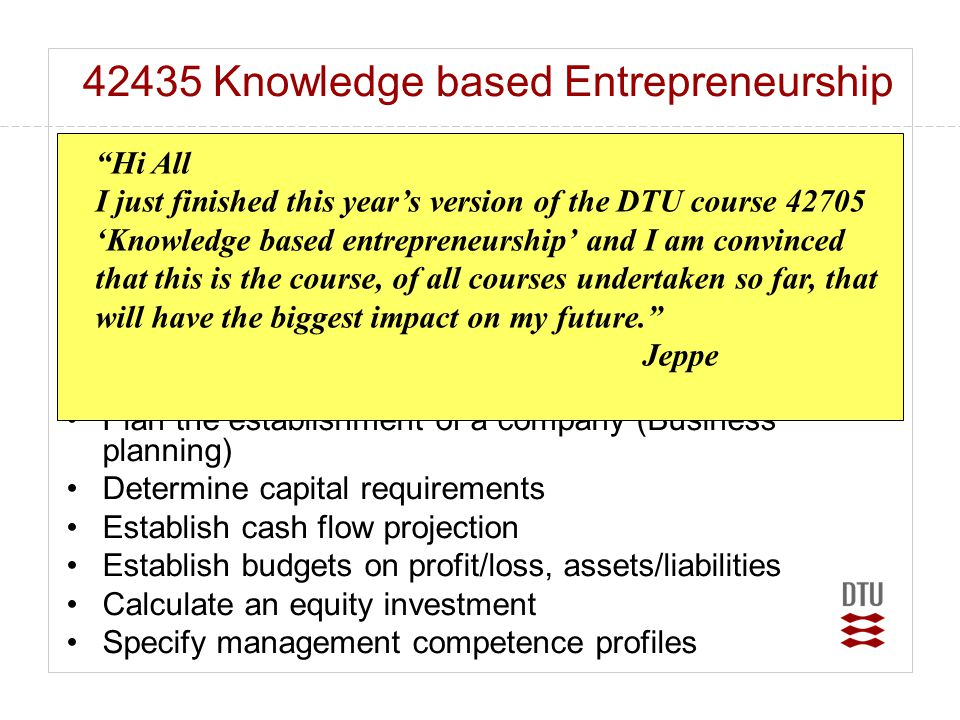 42435 Knowledge based Entrepreneurship
