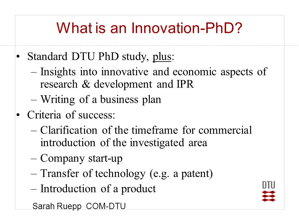 What is an Innovation-PhD