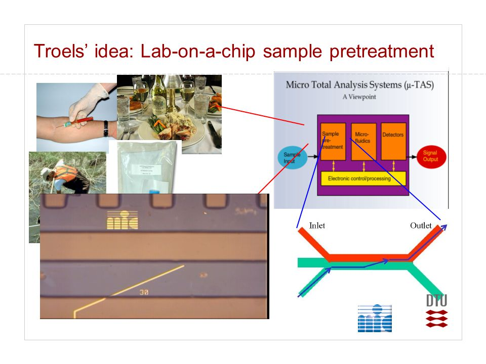 Troels' idea: Lab-on-a-chip sample pretreatment