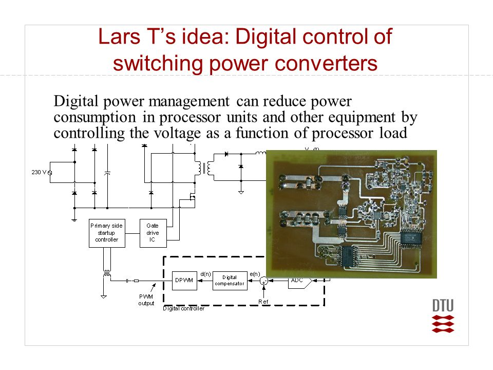 Lars T's idea: Digital control of switching power converters