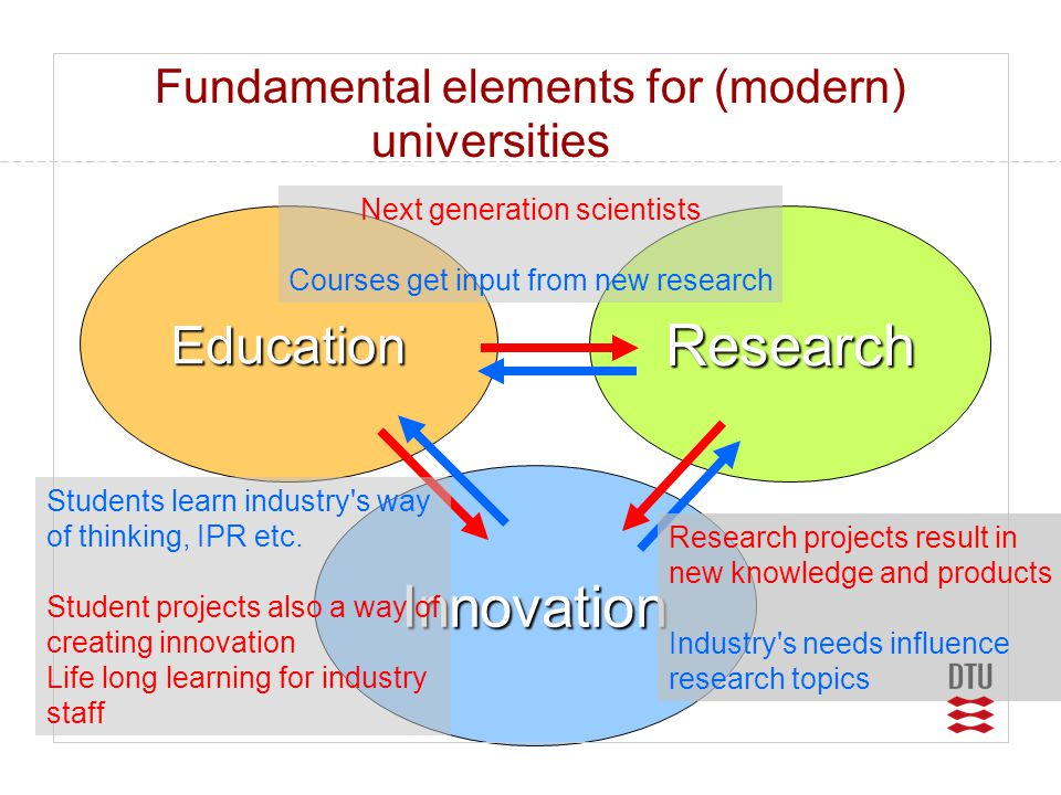 Fundamental elements for (modern) universities
