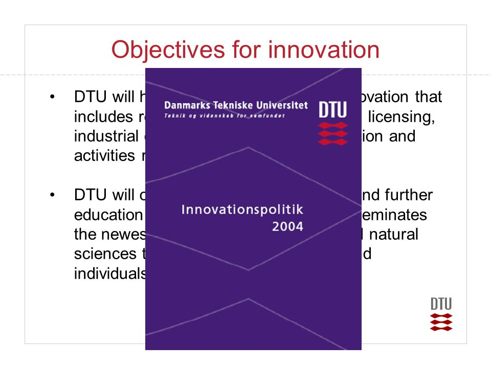 Objectives for innovation