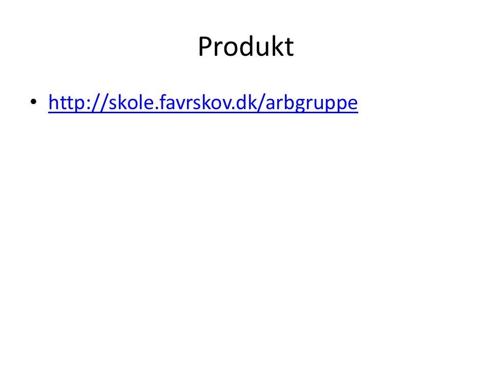 Produkt http://skole.favrskov.dk/arbgruppe