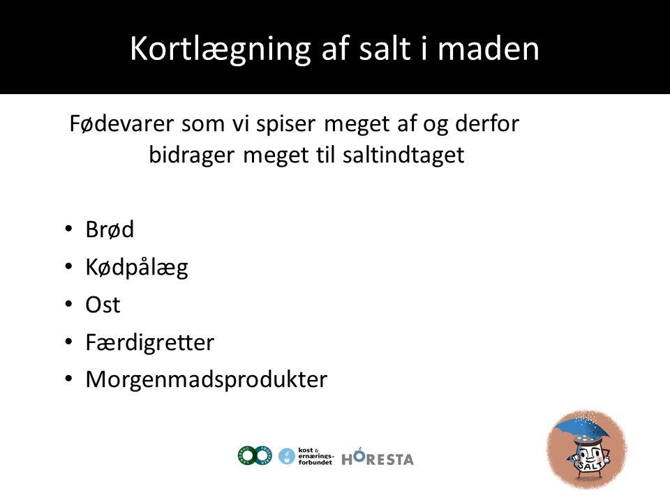 Kortlægning af salt i maden