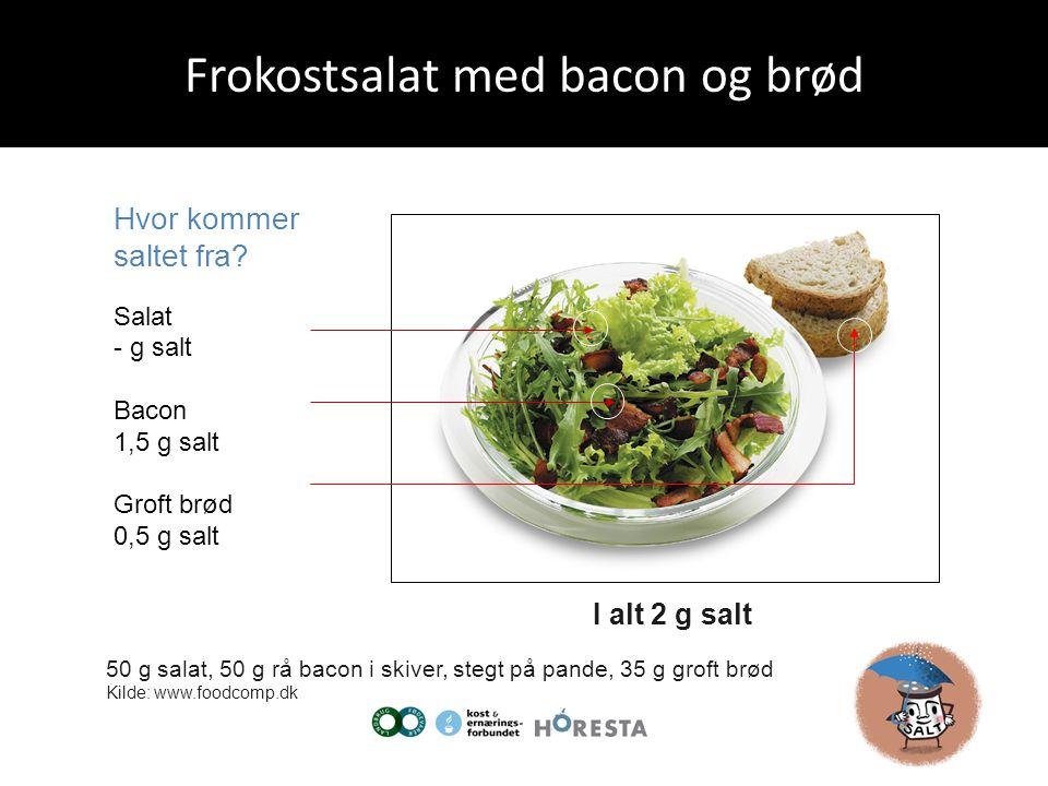 Frokostsalat med bacon og brød