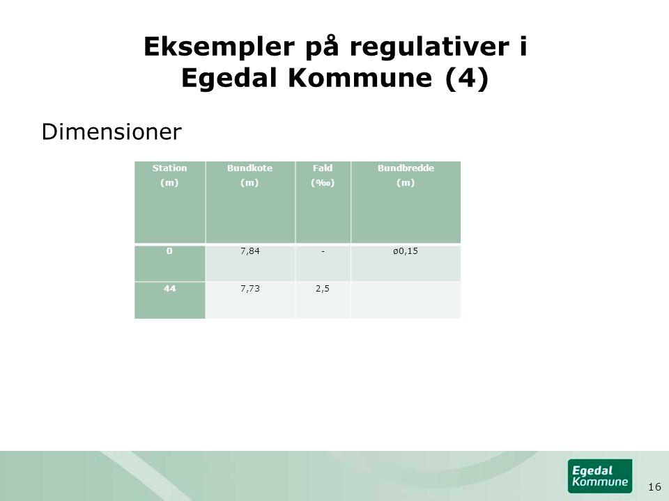 Eksempler på regulativer i Egedal Kommune (4)