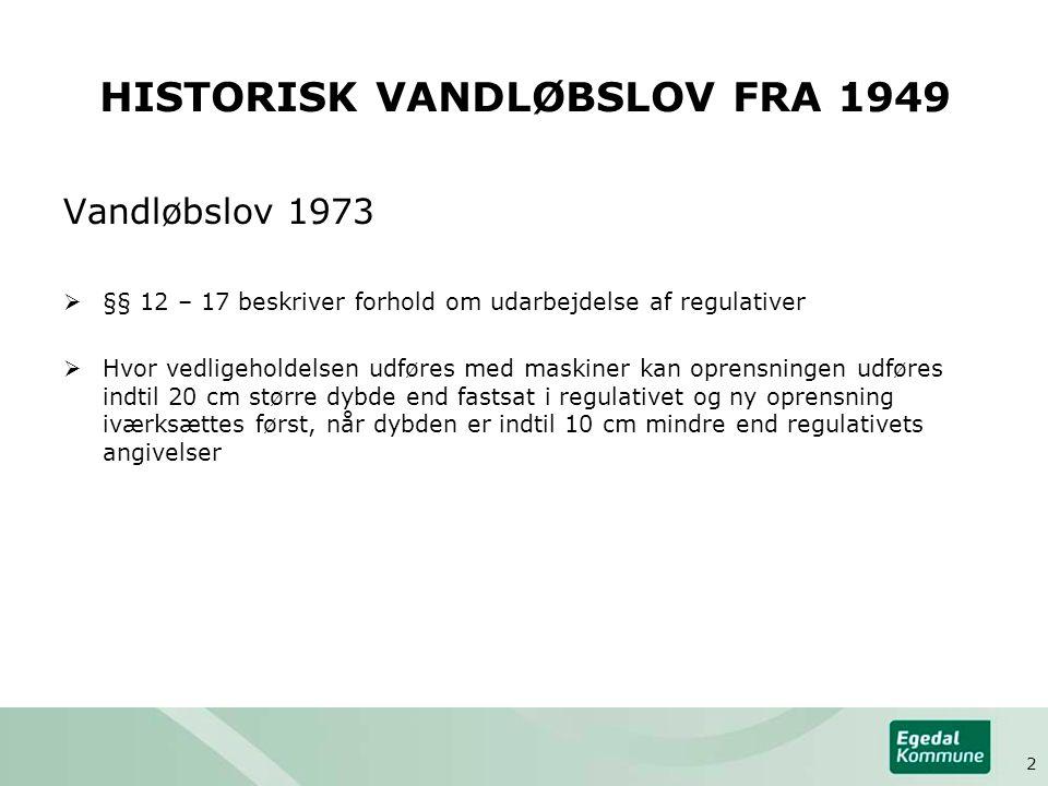 HISTORISK VANDLØBSLOV FRA 1949