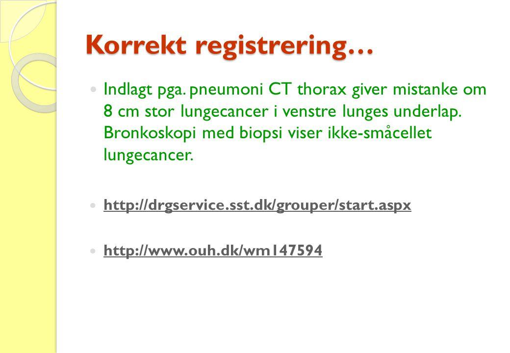 Korrekt registrering…