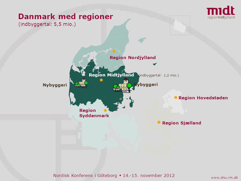 Danmark med regioner (indbyggertal: 5,5 mio.) Region Nordjylland