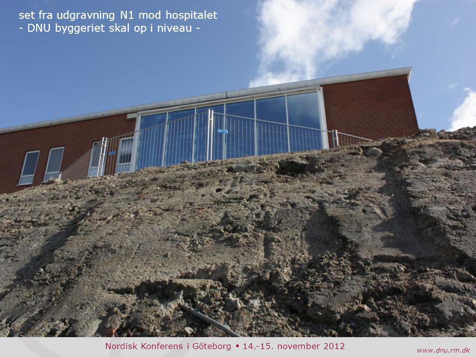 set fra udgravning N1 mod hospitalet