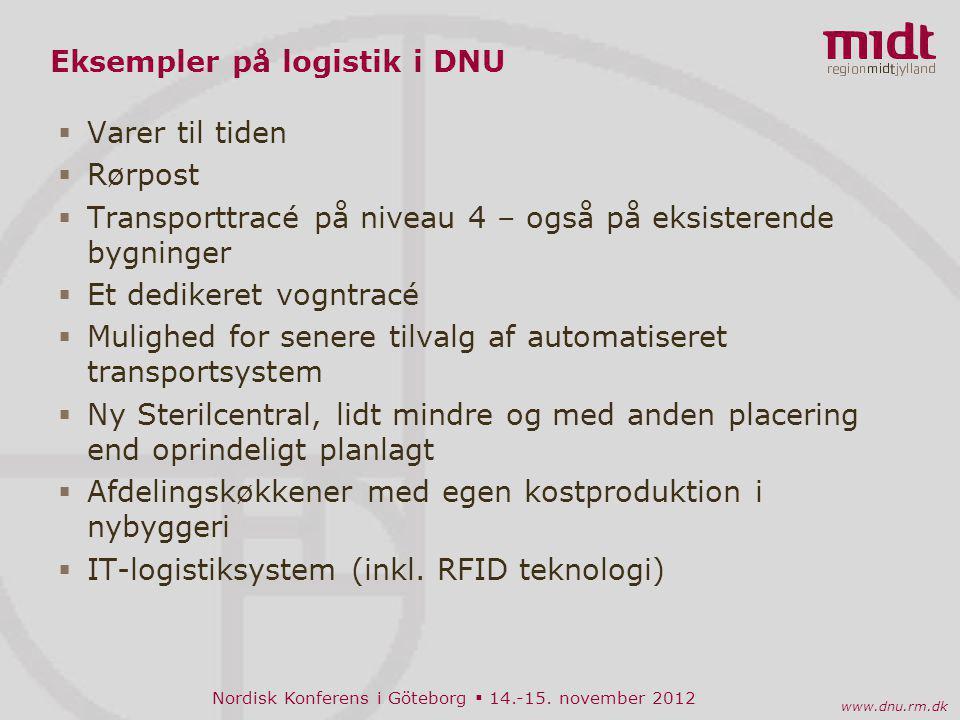 Eksempler på logistik i DNU