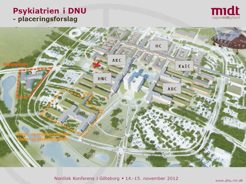 Psykiatrien i DNU - placeringsforslag