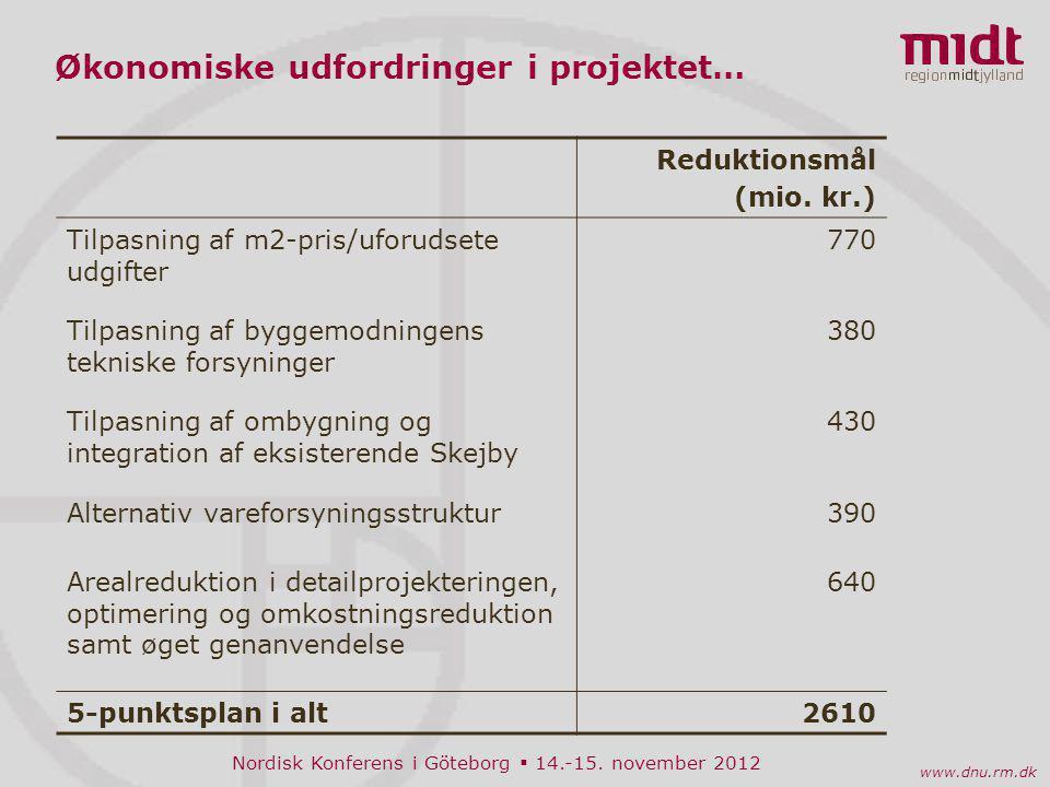 Økonomiske udfordringer i projektet…