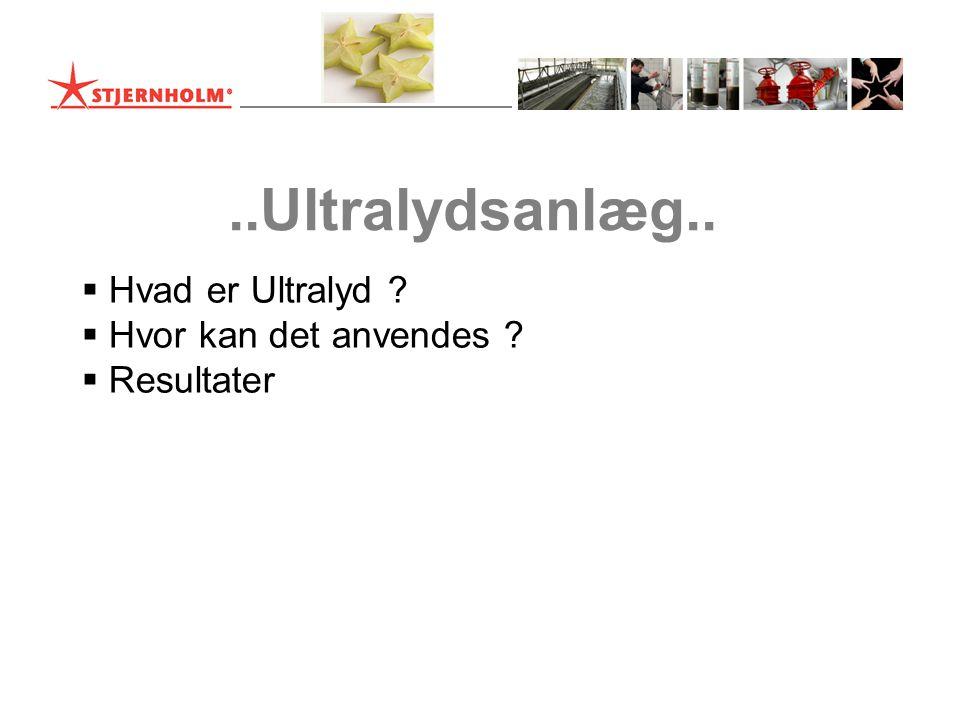 ..Ultralydsanlæg.. Hvad er Ultralyd Hvor kan det anvendes