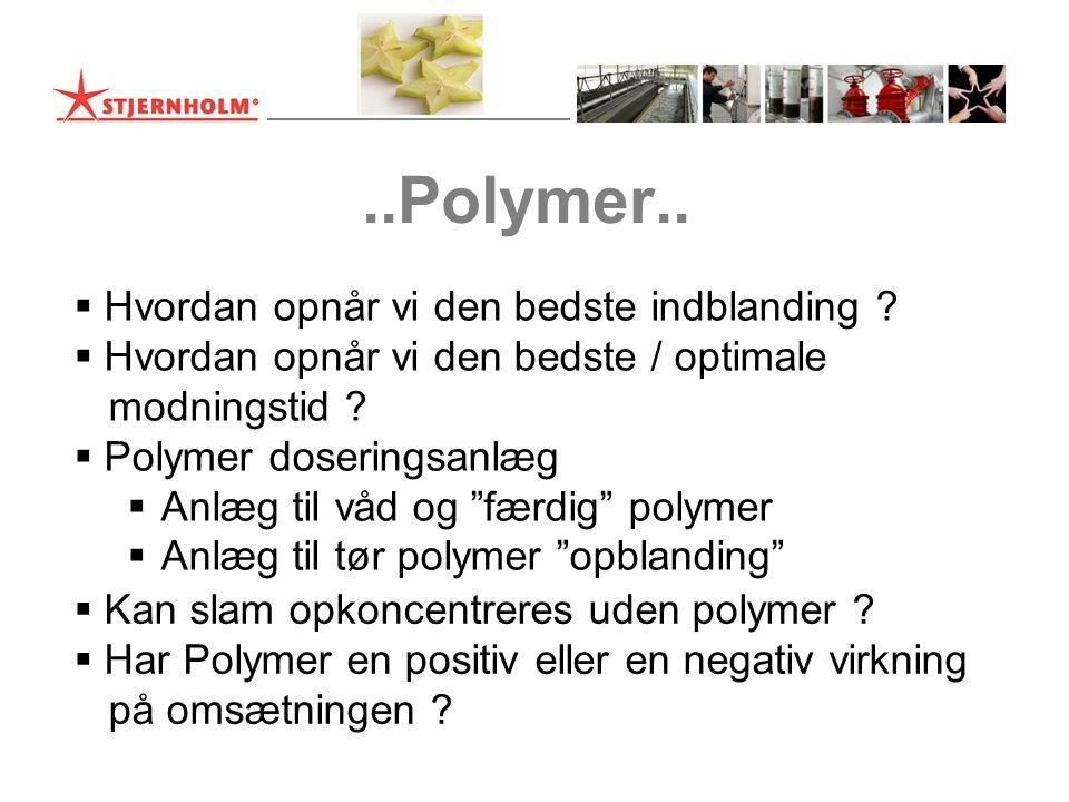 ..Polymer.. Hvordan opnår vi den bedste indblanding