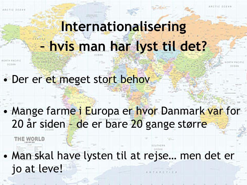 Internationalisering – hvis man har lyst til det