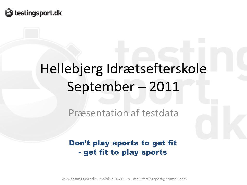 Hellebjerg Idrætsefterskole September – 2011
