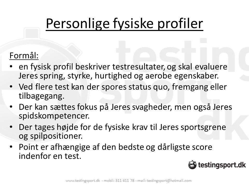 Personlige fysiske profiler