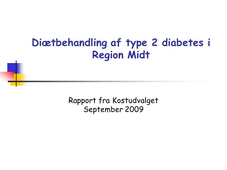 Diætbehandling af type 2 diabetes i Region Midt