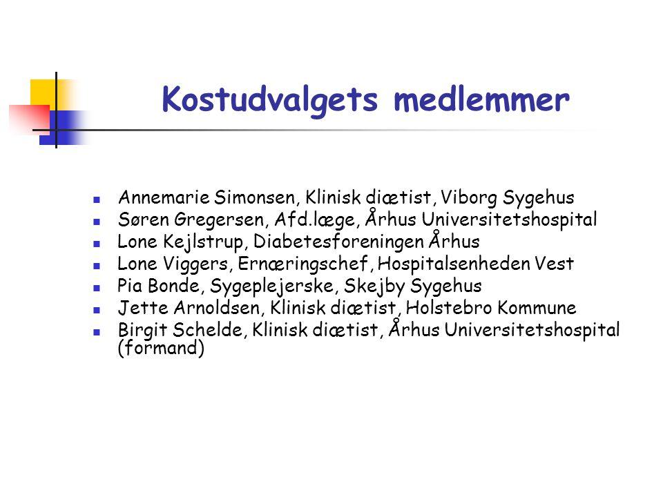 Kostudvalgets medlemmer