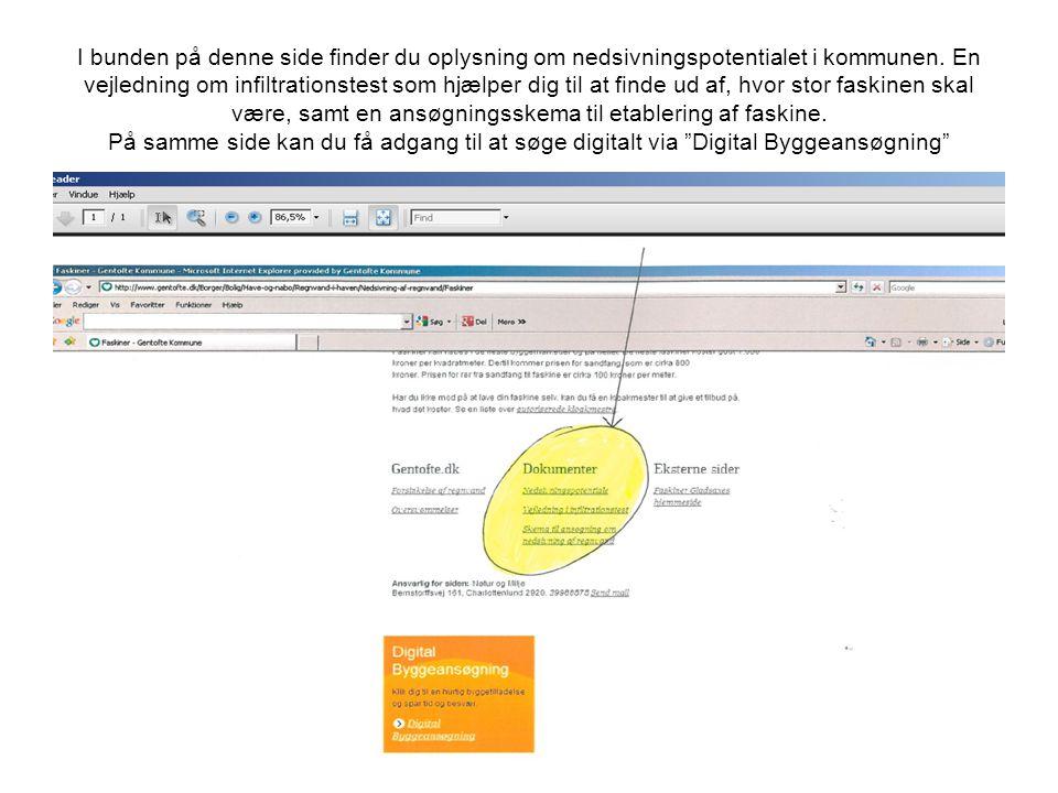 I bunden på denne side finder du oplysning om nedsivningspotentialet i kommunen.