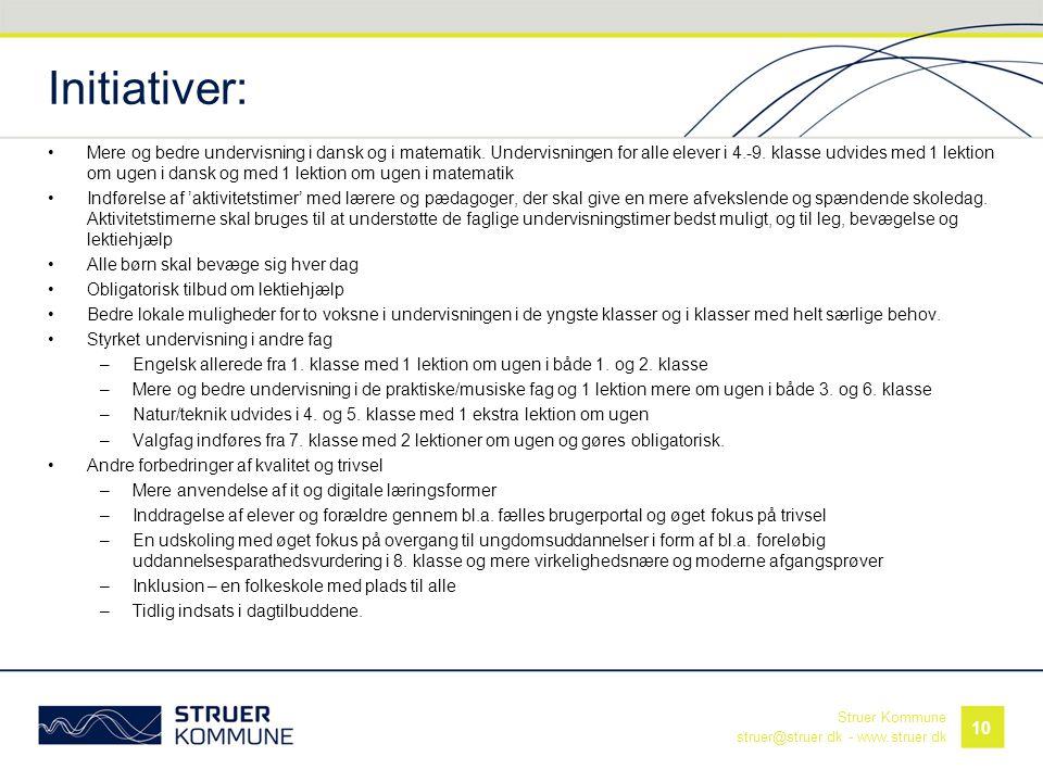 Initiativer: