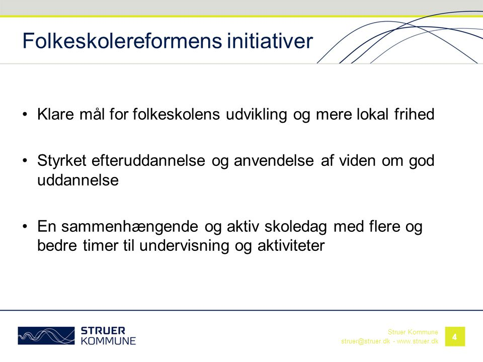 Folkeskolereformens initiativer