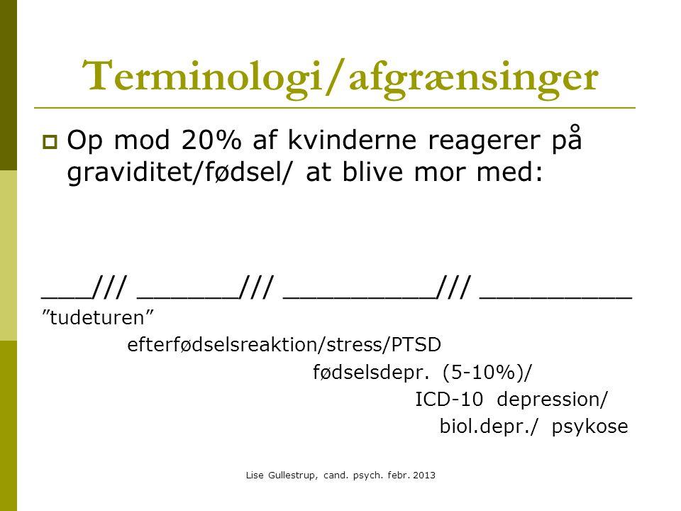 Terminologi/afgrænsinger