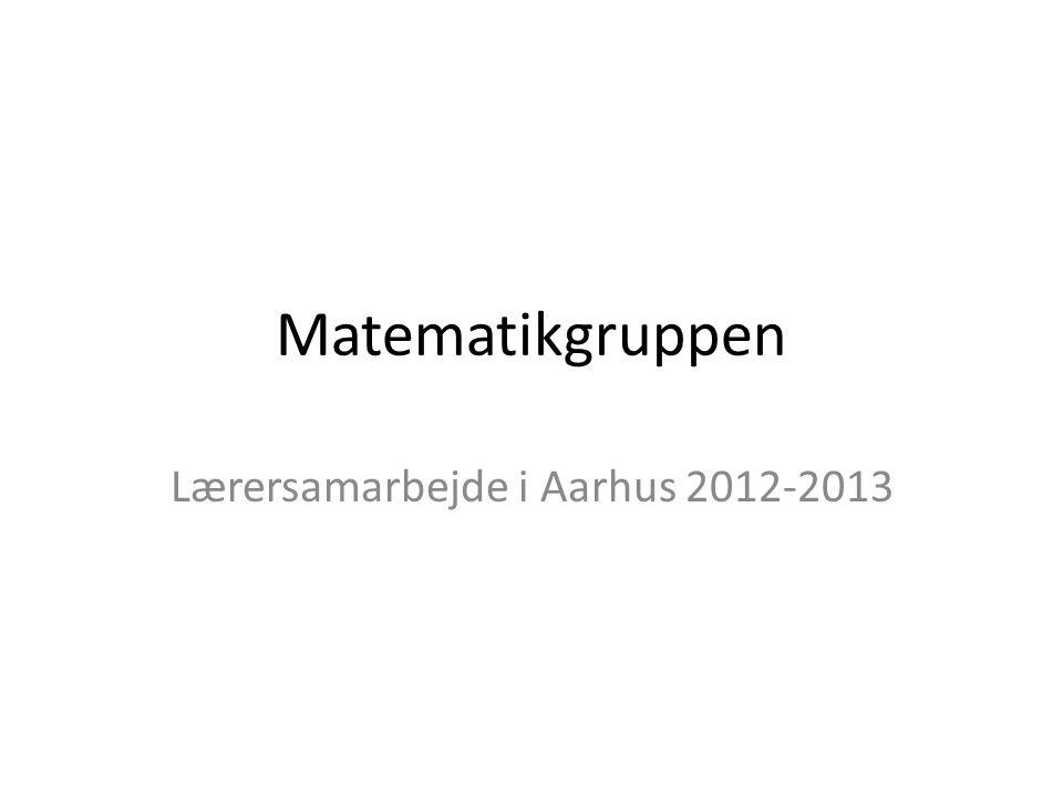 Lærersamarbejde i Aarhus 2012-2013