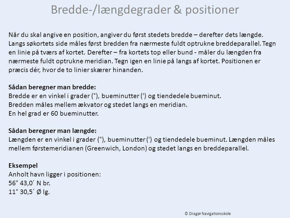 Bredde-/længdegrader & positioner
