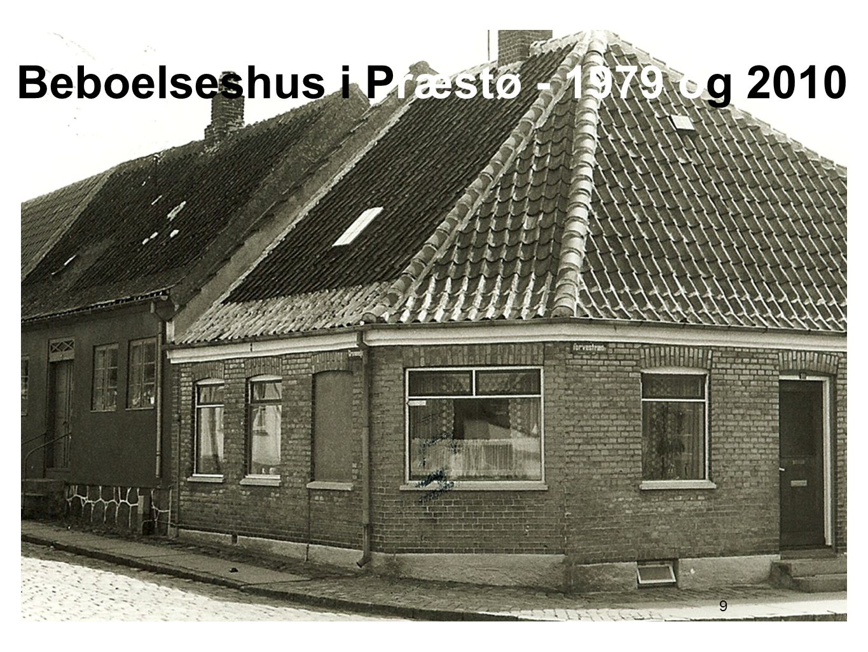 Beboelseshus i Præstø - 1979 og 2010