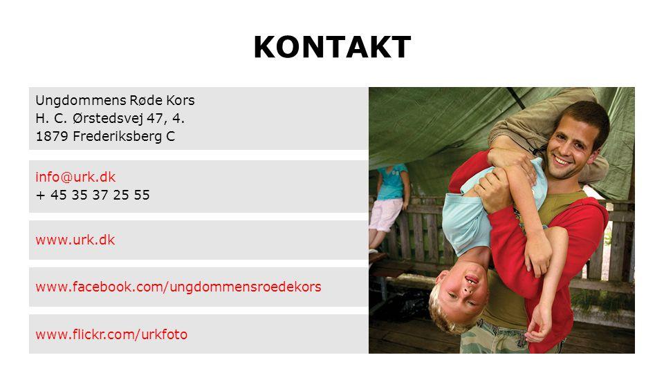 KONTAKT Ungdommens Røde Kors H. C. Ørstedsvej 47, 4. 1879 Frederiksberg C info@urk.dk + 45 35 37 25 55