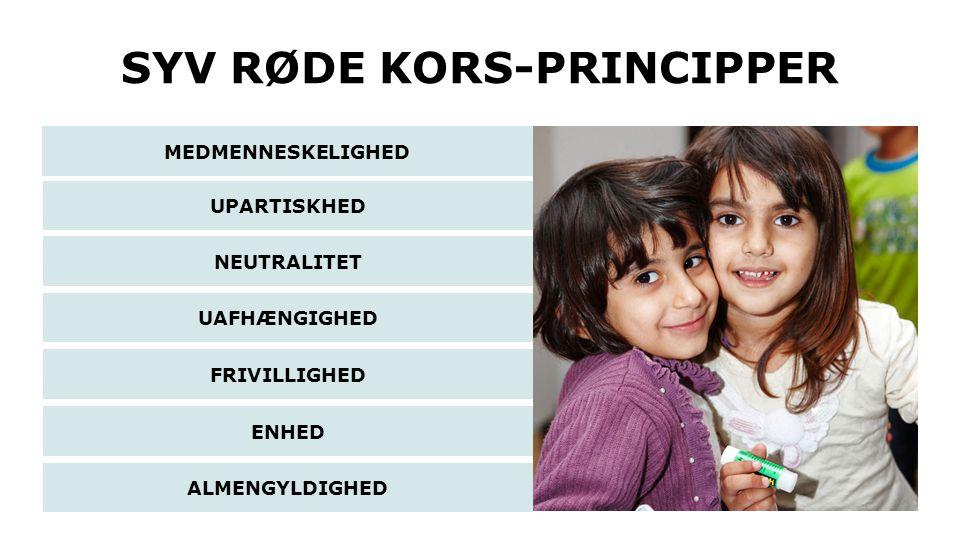 SYV RØDE KORS-PRINCIPPER