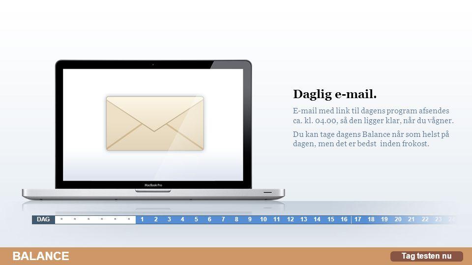 Daglig e-mail.