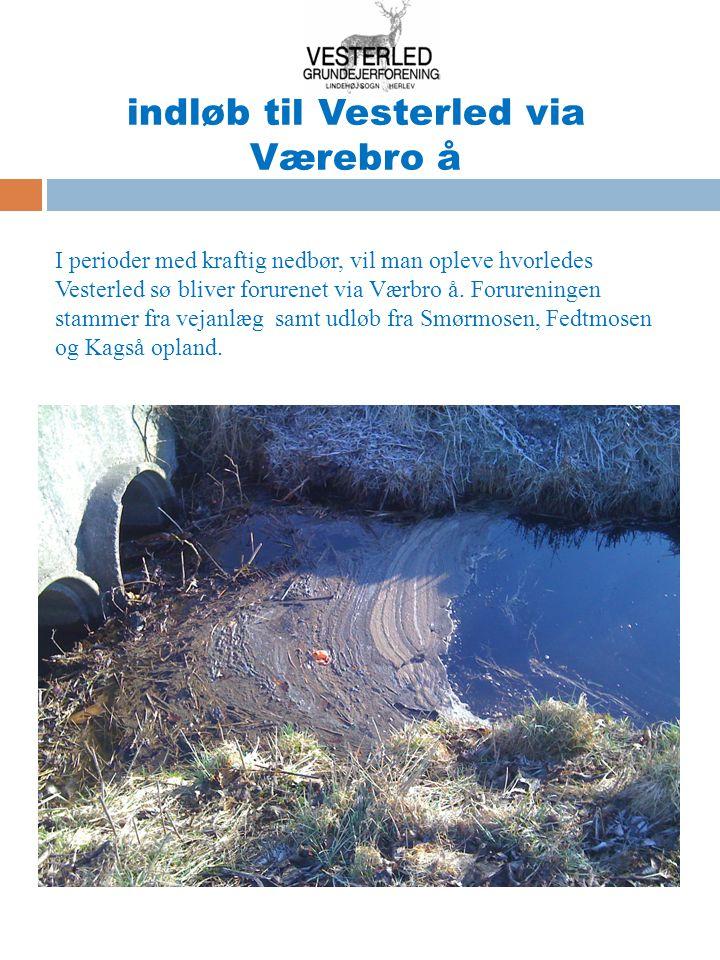 indløb til Vesterled via Værebro å