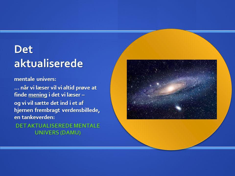 DET AKTUALISEREDE MENTALE UNIVERS (DAMU)
