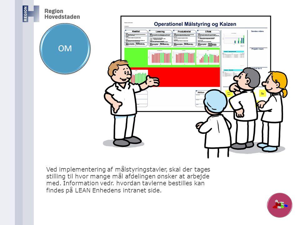 Ved implementering af målstyringstavler, skal der tages stilling til hvor mange mål afdelingen ønsker at arbejde med.