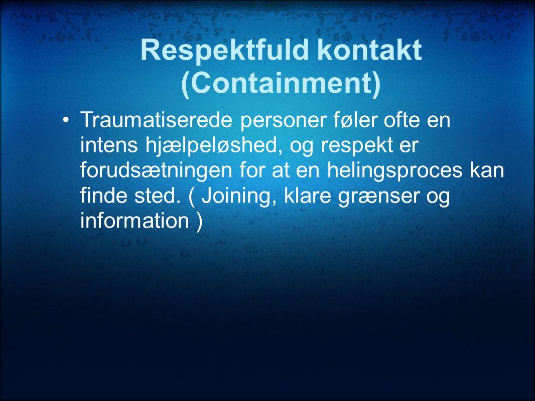 Respektfuld kontakt (Containment)