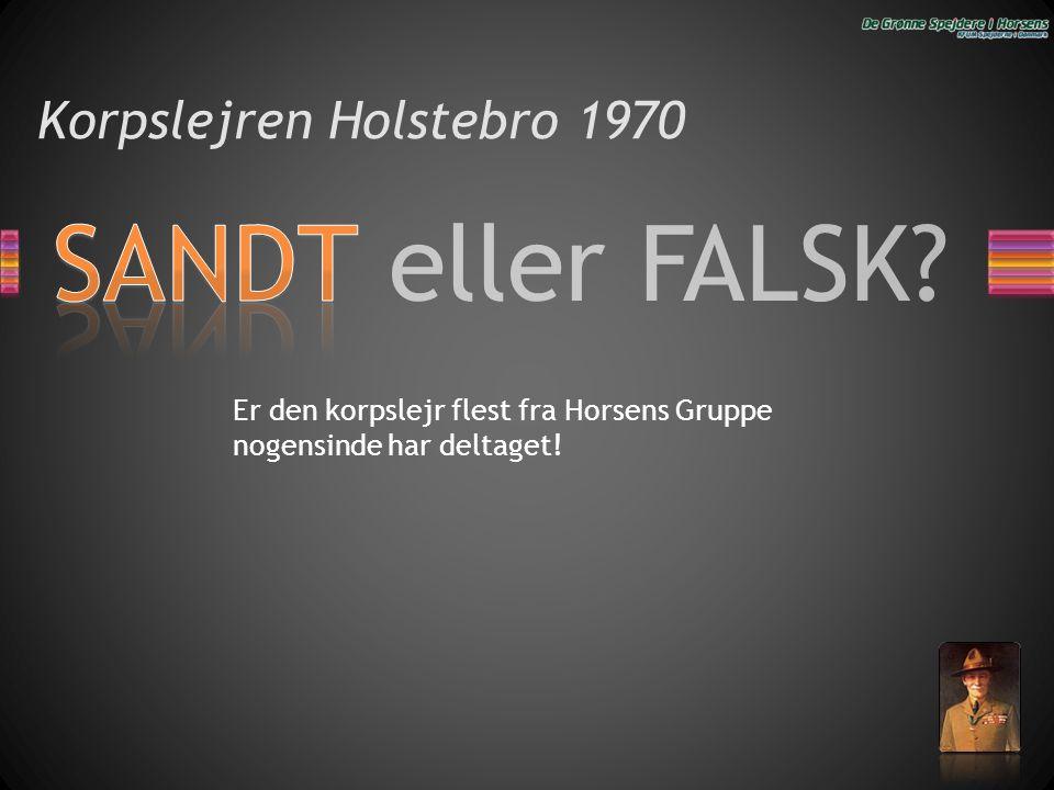 Korpslejren Holstebro 1970