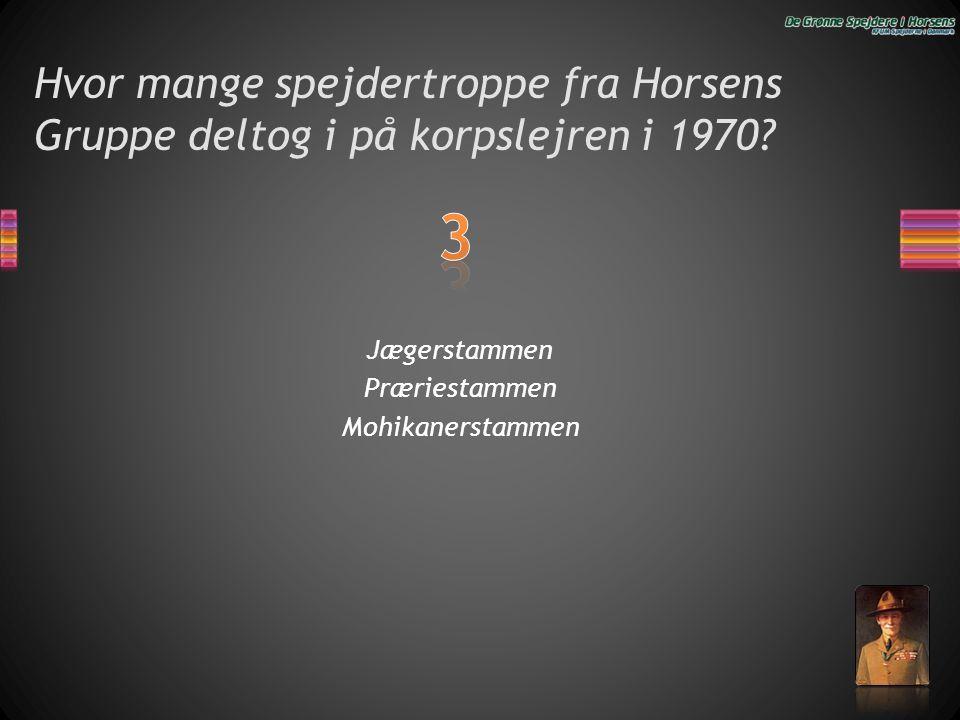 Hvor mange spejdertroppe fra Horsens Gruppe deltog i på korpslejren i 1970