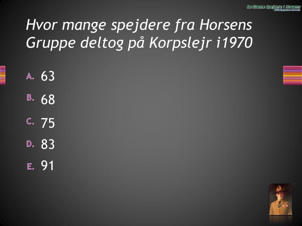 Hvor mange spejdere fra Horsens Gruppe deltog på Korpslejr i1970