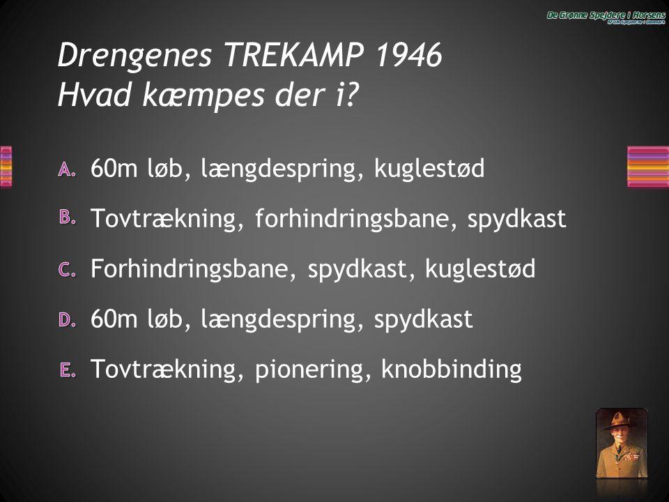 Drengenes TREKAMP 1946 Hvad kæmpes der i