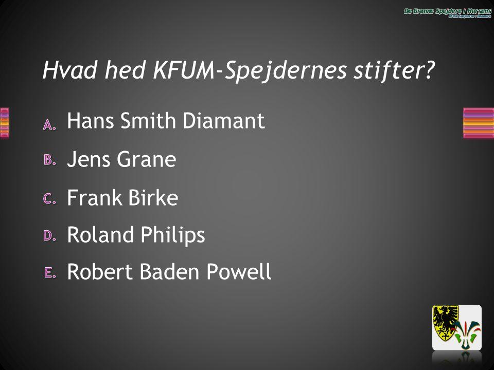 Hvad hed KFUM-Spejdernes stifter