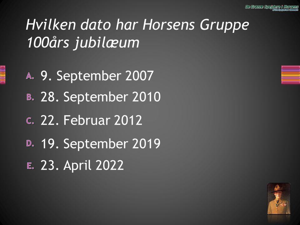 Hvilken dato har Horsens Gruppe 100års jubilæum