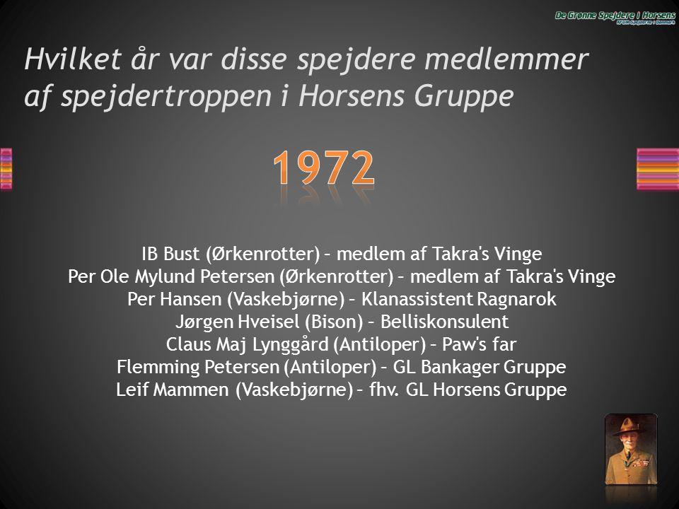 Hvilket år var disse spejdere medlemmer af spejdertroppen i Horsens Gruppe