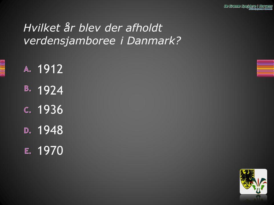 Hvilket år blev der afholdt verdensjamboree i Danmark